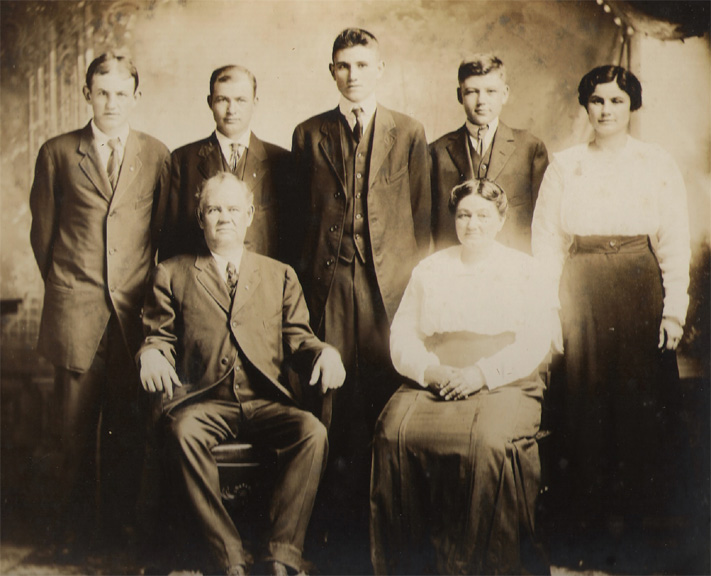 George Franklin Ruddell Family Portrait